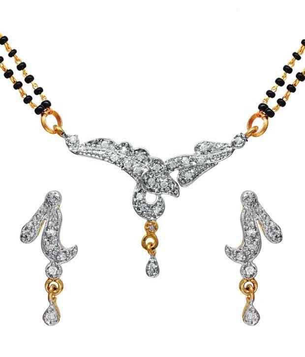 Ilina Appealing American Diamond Mangalsutra Set
