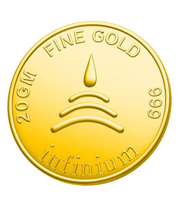Infinium 24kt 20g 999 Purity ASSAY Certified Laxmi Gold Coin