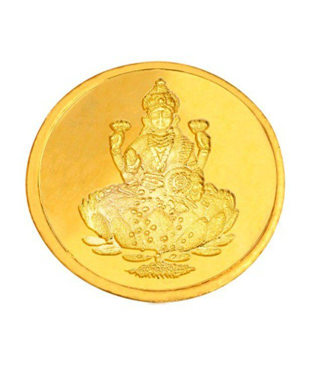 Infinium 24kt 2g 995 Purity BIS Hallmarked Laxmi Gold Coin
