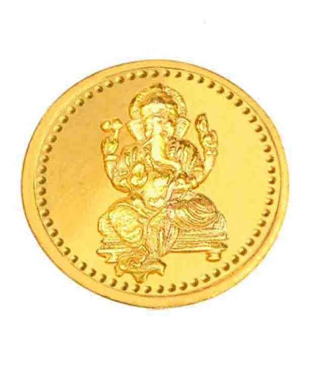 Infinium 24kt 5g 999 Purity ASSAY Certified Ganesh Gold Coin