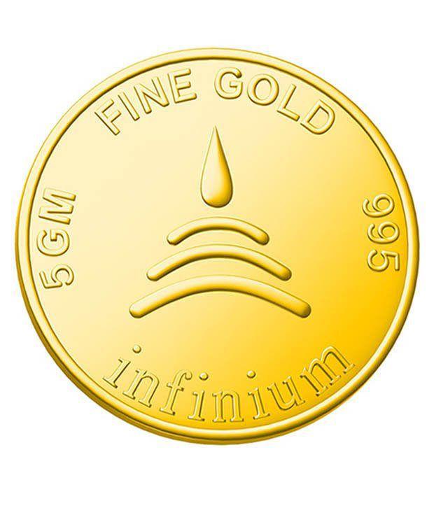 Infinium 24kt 5g 999 Purity ASSAY Certified Flower Gold Coin