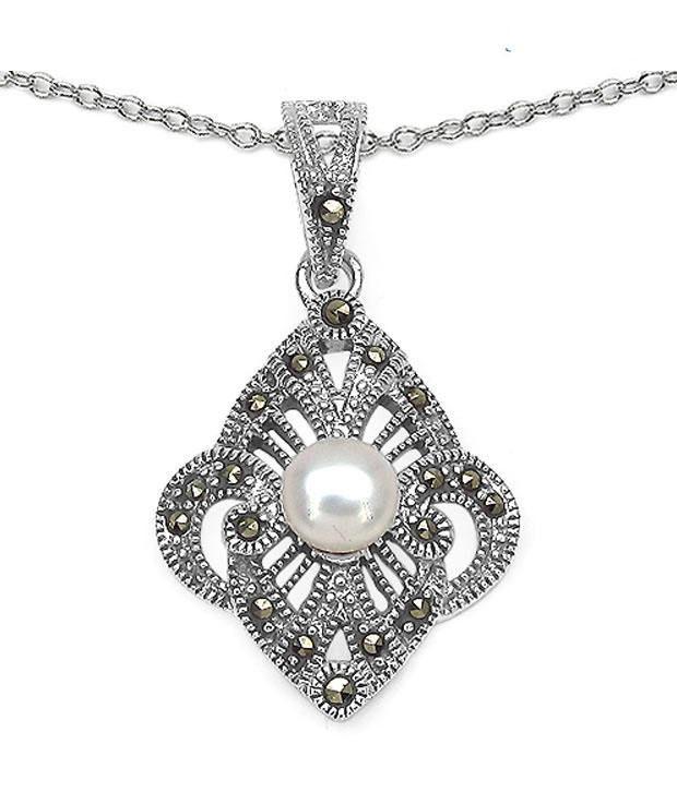 Johareez Precious Pearl Pendant with Chain