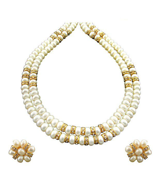 Sri Jagdamba Pearls Caramel Pearl Necklace