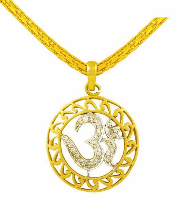 Mehrasons Auspicious Om Diamond Pendant