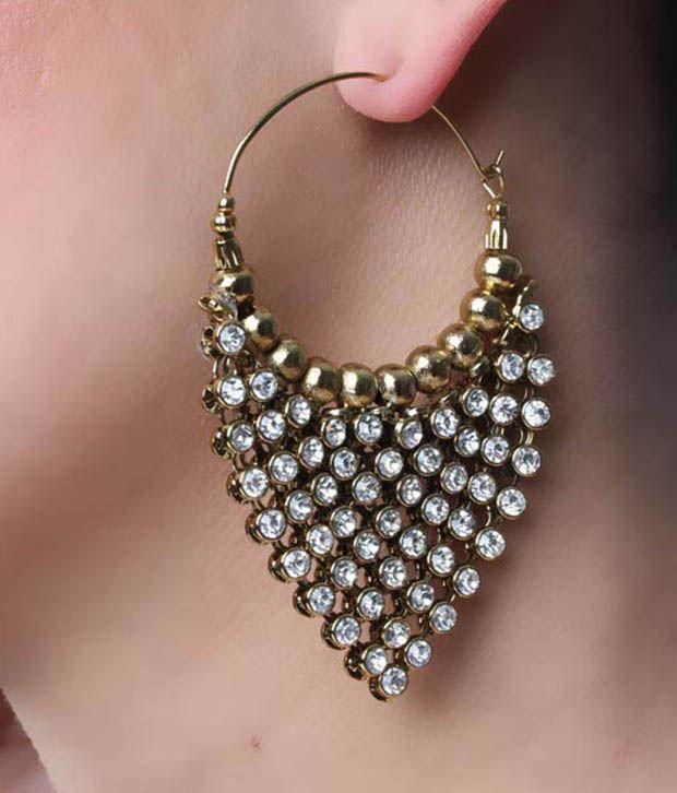 Pari Golden Diamond Danglers