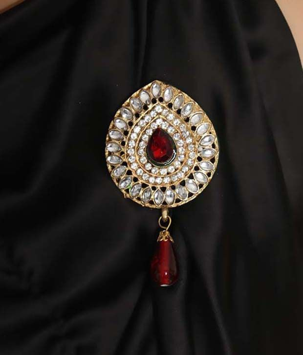 Pari Kundan Style Maharaja Brooch