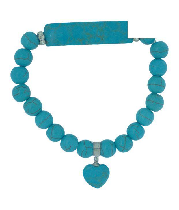 Piebee Turquoise Heart Charm Bracelet