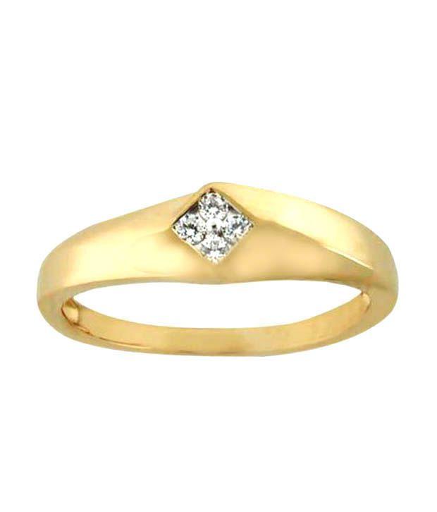 Unique Solitaire Pressure Set Diamond Ring