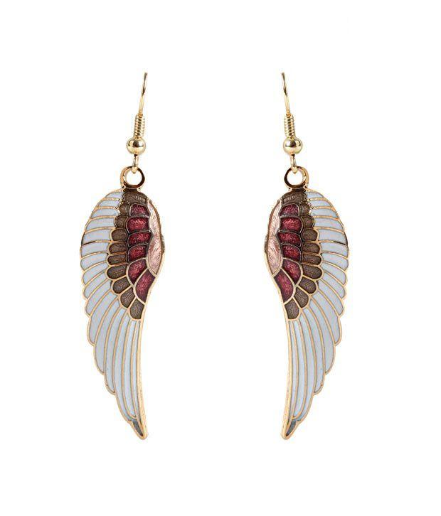 Vendee Shiny Enamel Fashion Earrings