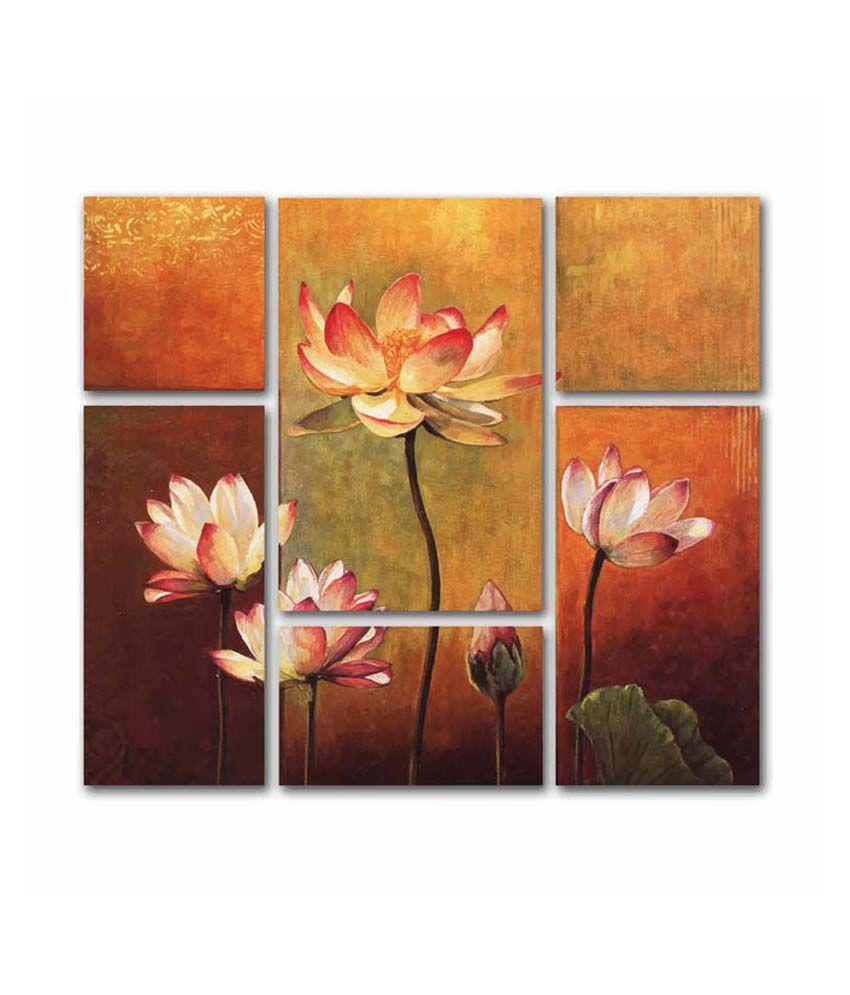 Painting Mantra Lotus 6 Piece Set