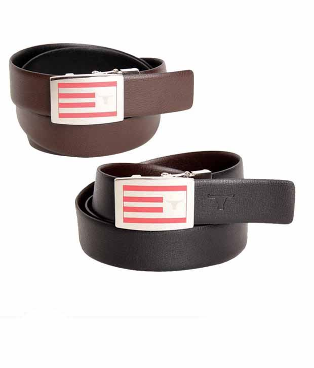 Bulchee Dashing Black & Brown Reversible Belt