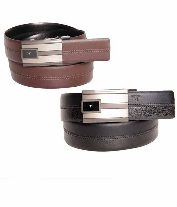 Bulchee Enticing Black & Brown Reversible Belt