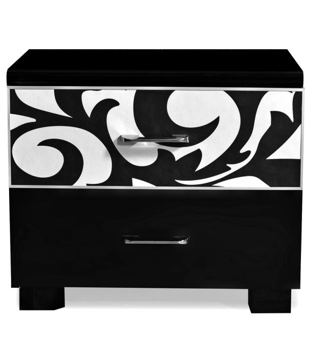 Churchill Night Stand W 2 Drawer Black