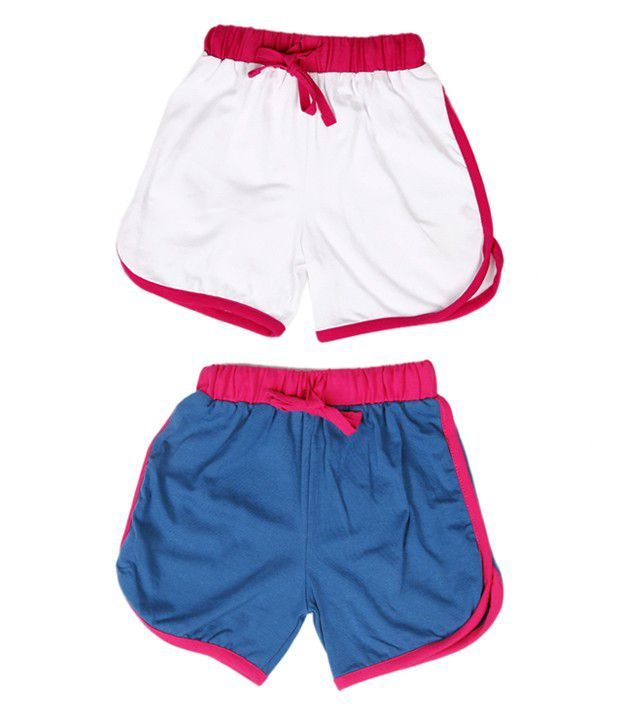Robinbosky Fashionable Blue and White Combo of 2 Shorts For Kids