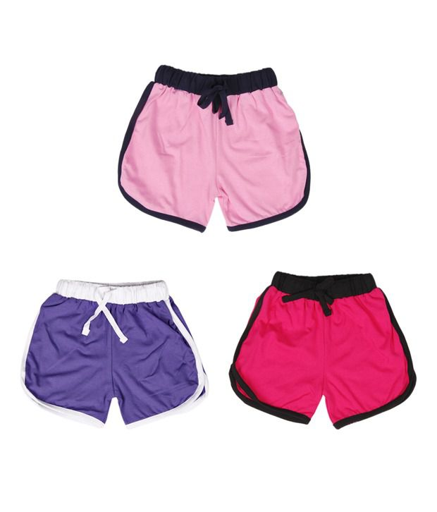 Robinbosky Gorgeous Multicolour Pack of 3 Shorts For Kids