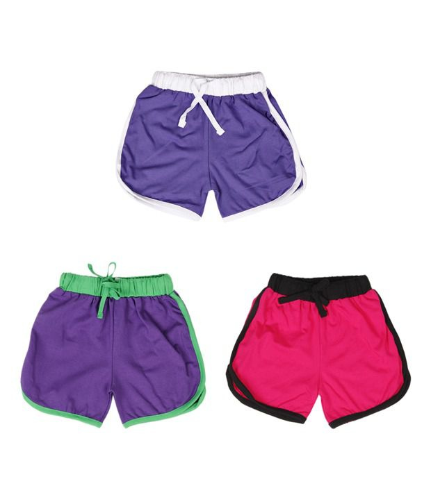 Robinbosky Sophisticated Multicolour Pack of 3 Shorts For Kids