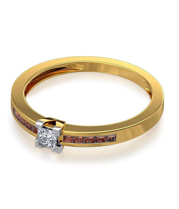 The Gemma 18Kt Real Gold & Diamond Ring