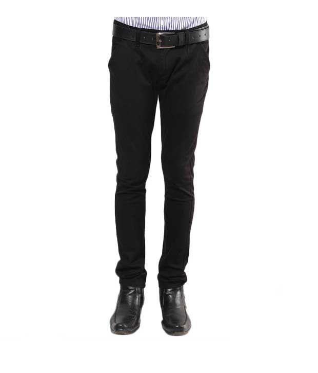 Design Roadies  Balloon Fit Black Cotton Trousers