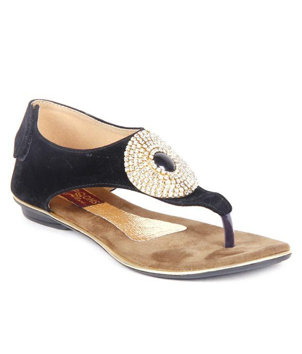 Feel It Splendid Black Sandals