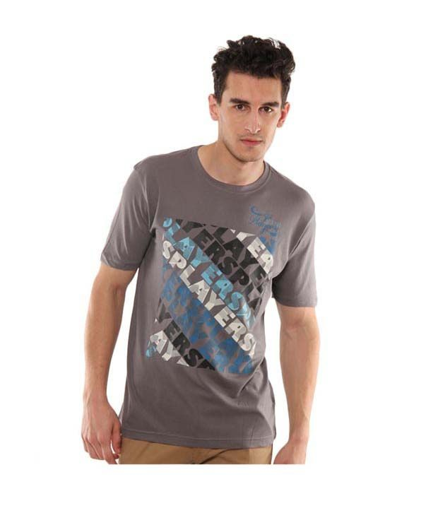 John Players Charcoal Grey T-Shirt