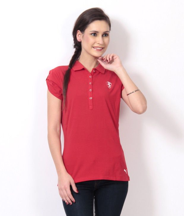 28c71567 Buy Puma Red Ferrari Polo Neck T-Shirt Online at Best Prices in India -  Snapdeal