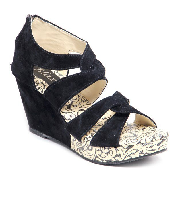 Do Bhai Blue Wedges Heels fast delivery cheap price P3T7p