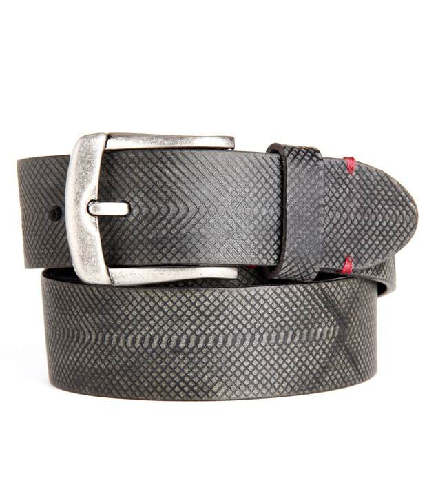 Paradigm design lab Black Snake Textured Belt For Men