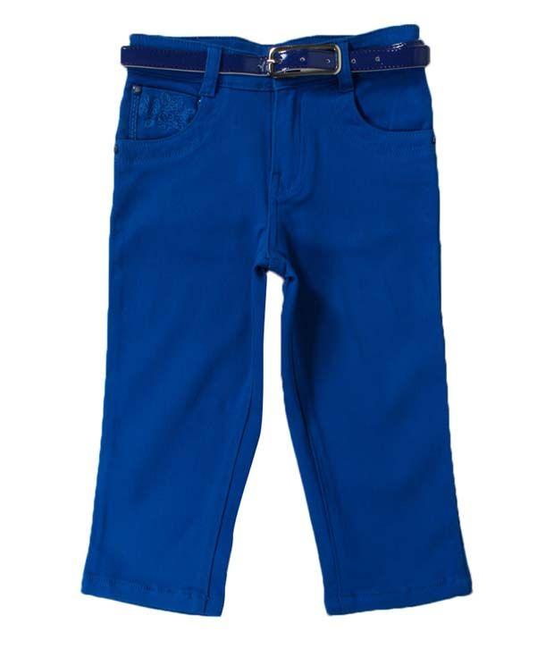 Vine Noteworthy Blue Capri For Kids