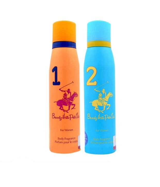Beverly Hills Polo Club Set of 2 Water Based Deodorant No 1&2 for women - 1200 Sprays