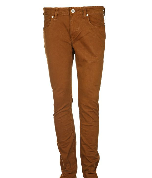Flying Machine Smart Brown Midrise Jeans