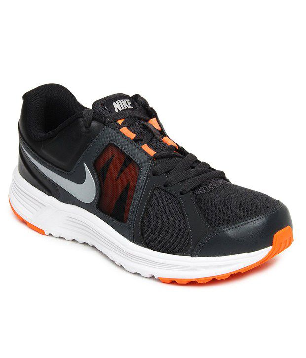 Nike Awesome Black and Orange Sports Shoes