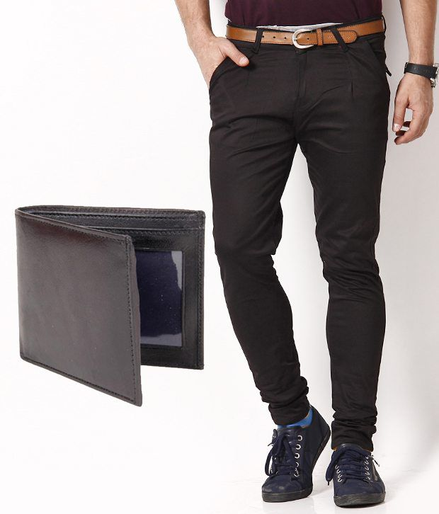 RPB Modish Brown Chinos with Free Wallet