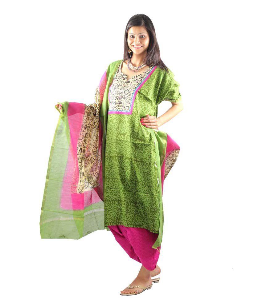 Uptown Galeria Green Formal Dress Material