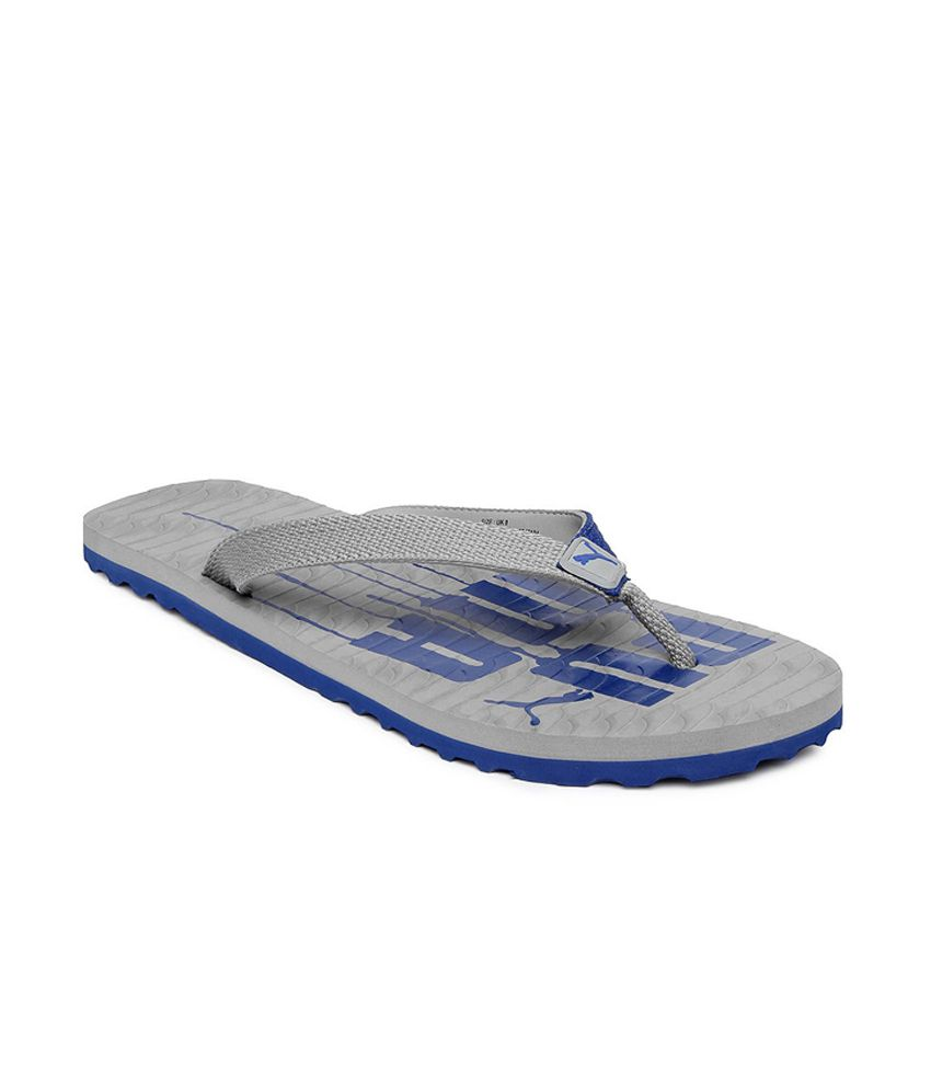 puma men grey miami v flip flops price in india buy puma. Black Bedroom Furniture Sets. Home Design Ideas