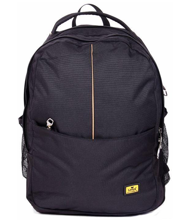 37827b02772aaf Liviya SB-482 Black Backpack - Buy Liviya SB-482 Black Backpack Online at  Low Price - Snapdeal