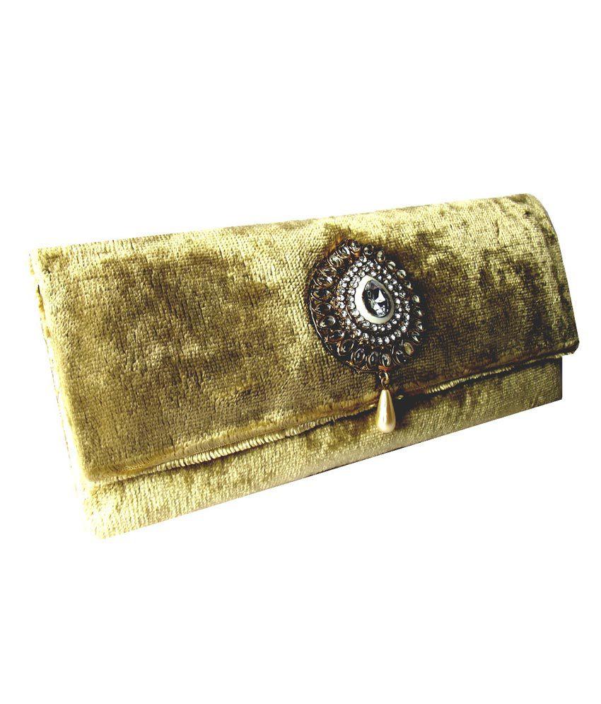 Moksh Antique Gold Dainty Clutch Bag