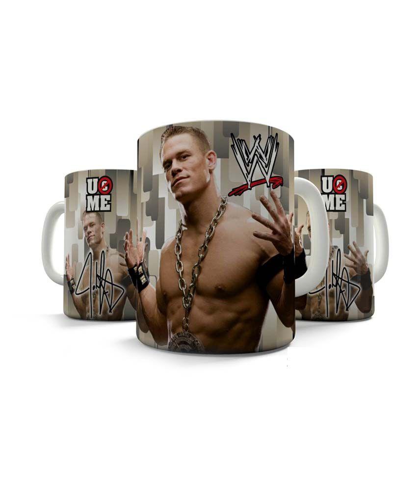 Shaildha S Wwe Super Star John Cena 350 Ml White Coffee Mug W01 Buy Online At Best Price In India Snapdeal