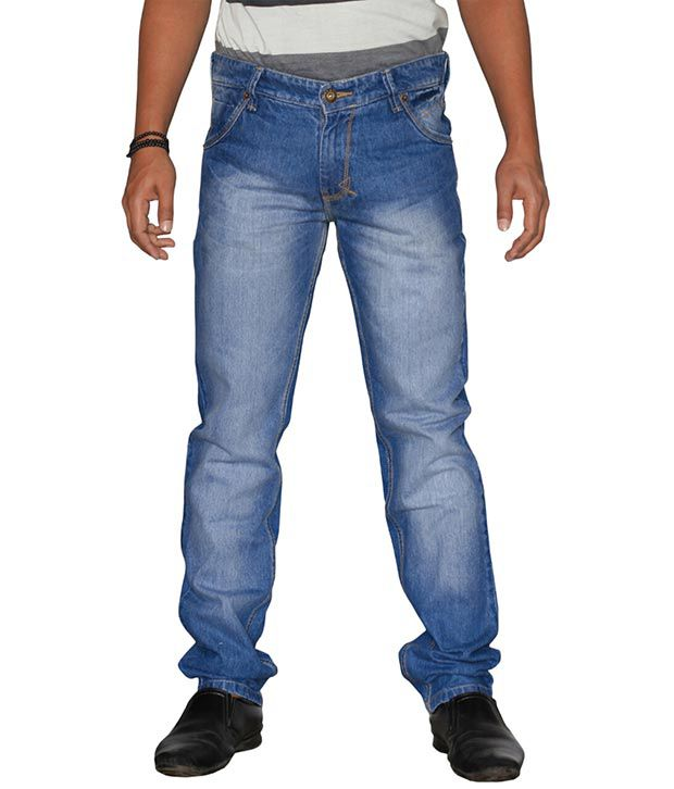 U.S. Rugby Blue Faded Slim Fit Men's Jeans 501