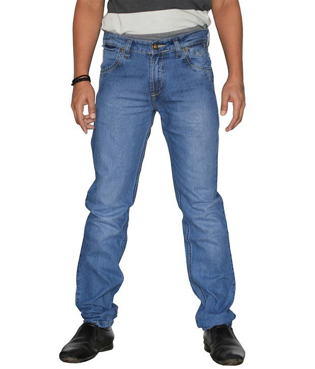 U.S. Rugby Light Blue Slim Fit Men's Jeans 901