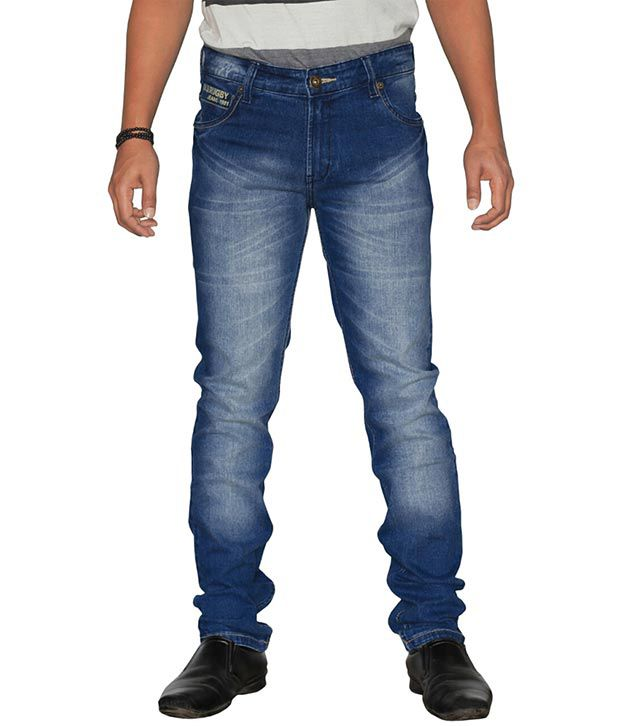 U.S. Rugby Stretch Slim Fit Faded Men's Jeans 802