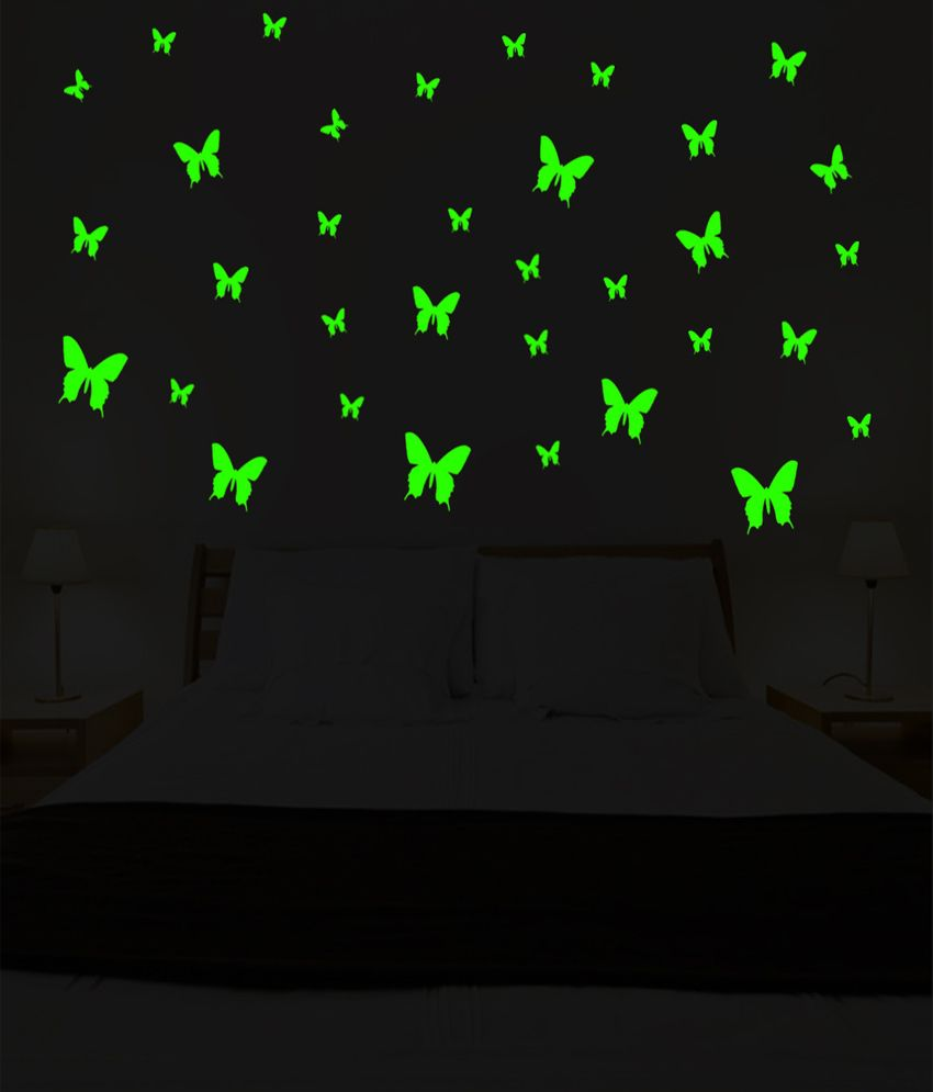 wow interiors and decors glowing in dark butterfly medium size wow interiors and decors glowing in dark butterfly medium size wall sticker
