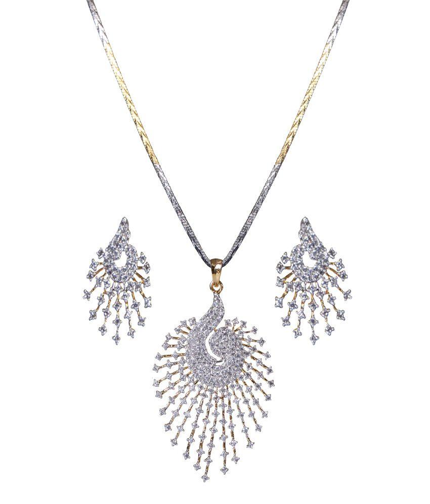 Xgoldindia stunning american diamond pendant set buy xgoldindia xgoldindia stunning american diamond pendant set aloadofball Gallery