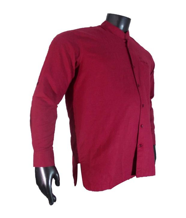 Xmex Dark Pink Shirt - Buy Xmex Dark Pink Shirt Online at Best ...