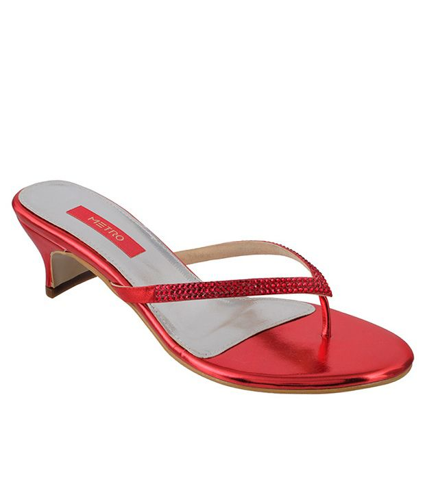 Metro Stunning Red Heeled Slip-on