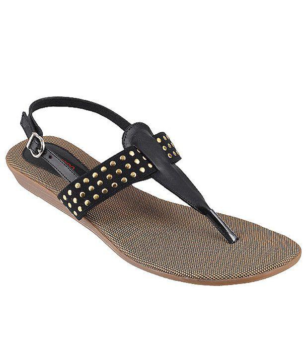 Metro Sturdy Black Sandals
