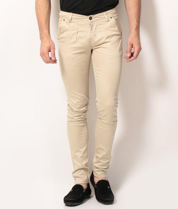VAM Jeans Cream Cotton Chinos