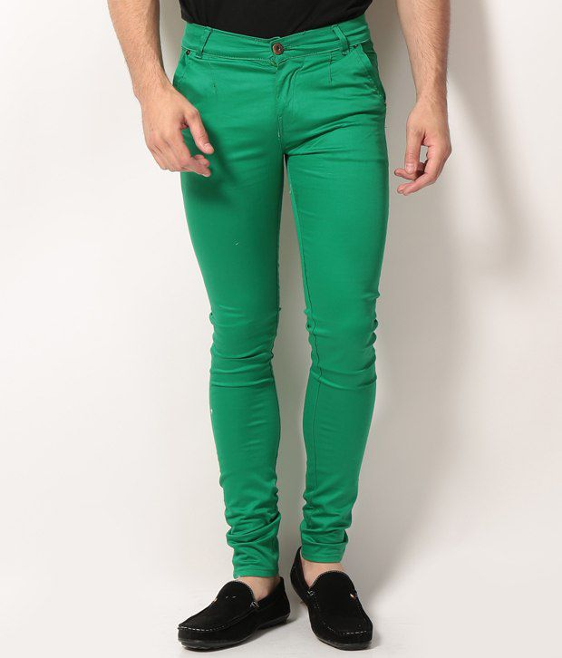 VAM Jeans Green Cotton Chinos