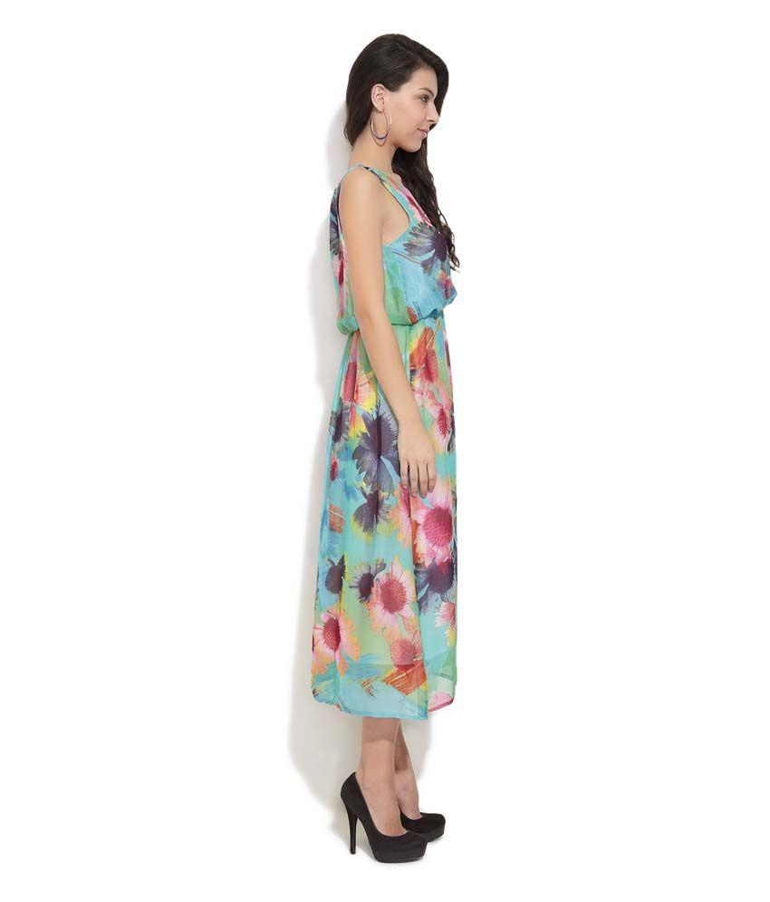 2795959a4c Hotberries Multi Printed Georgette Long Dresses - Buy Hotberries ...