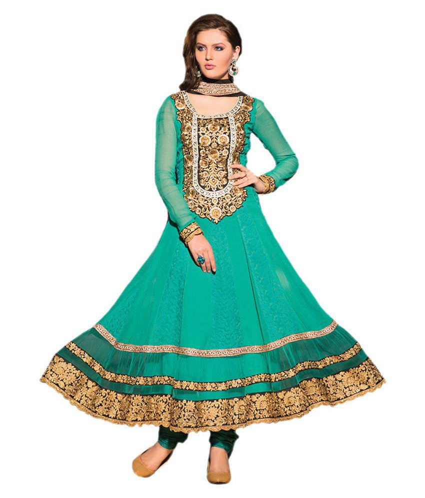 Indian wholesale clothing green georgette unstitched dress for Cheap clothing material
