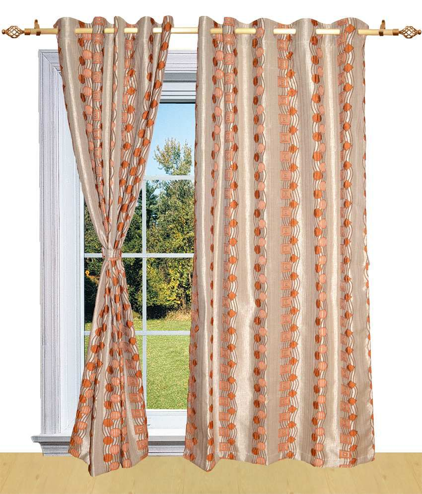 Shandar Orange Natural Polyester Curtain Fabric Buy Shandar Orange Natural Polyester Curtain